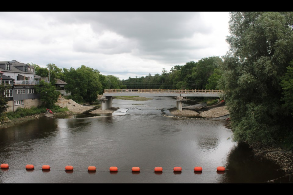 Elora's Badley Bridge is on schedule to be finished in December 2020. Keegan Kozolanka/GuelphToday