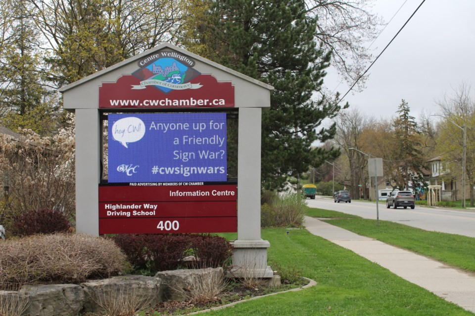 CW Chamber of Commerce general manager Sally Litchfield said she thought a sign war would be a way to have some fun and promote local business at the same time. Keegan Kozolanka/GuelphToday