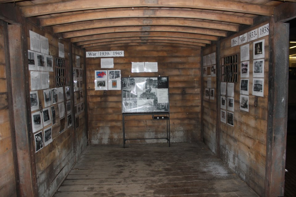 War memorial in the cattle car at the University of Guelph. Anam Khan/GuelphToday