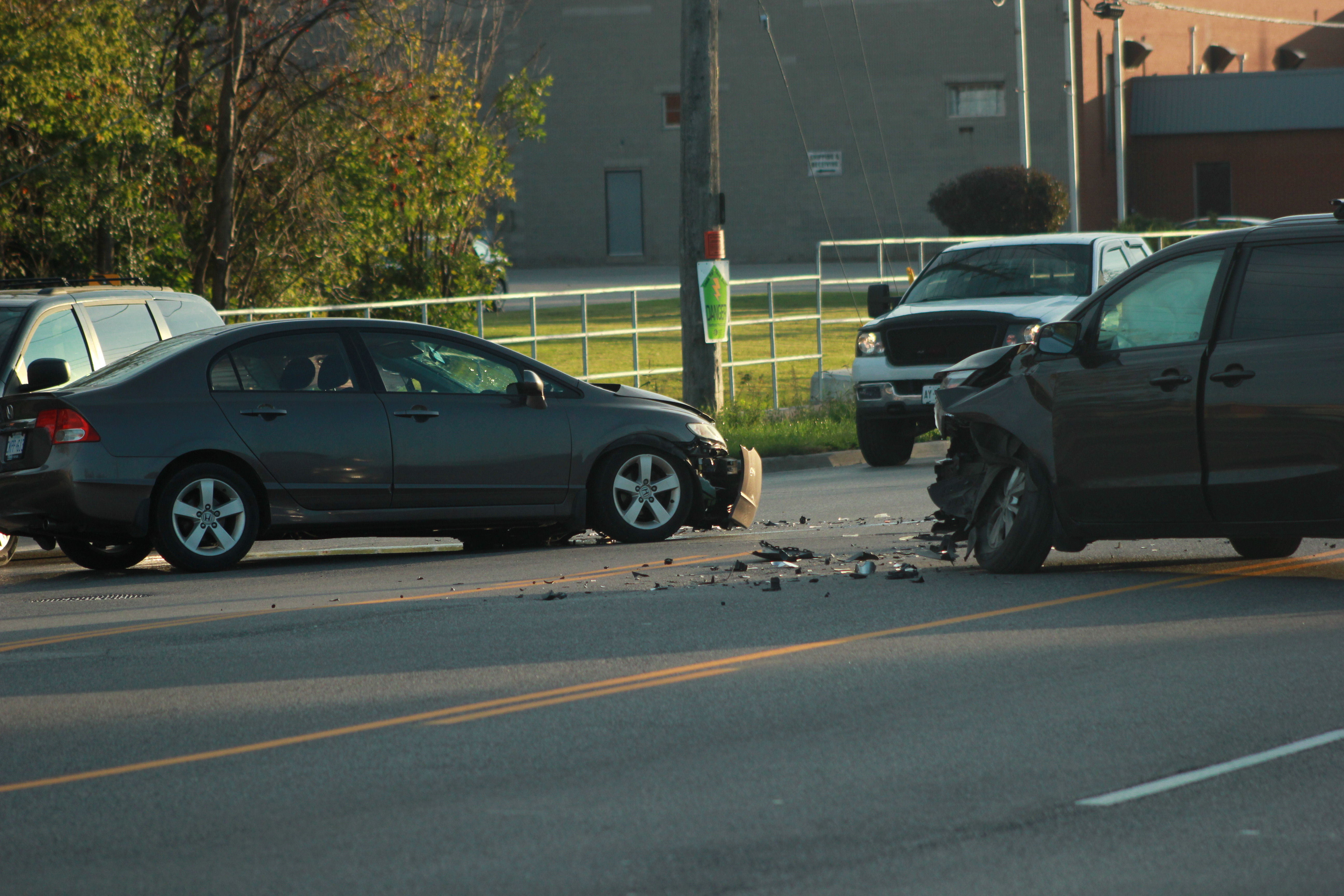 Clean up underway for two-vehicle collision on Woodlawn Road ( 5 photos)