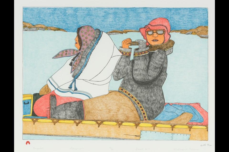 Kudluajuk Ashoona, Snapshot, 2014, lithograph, 64 x 77.5 cm