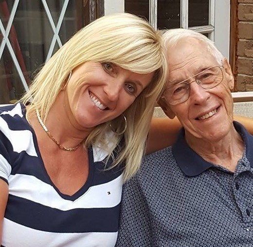 Owner/operator Heather Conlon with her late father Norman 'Bud' Harris