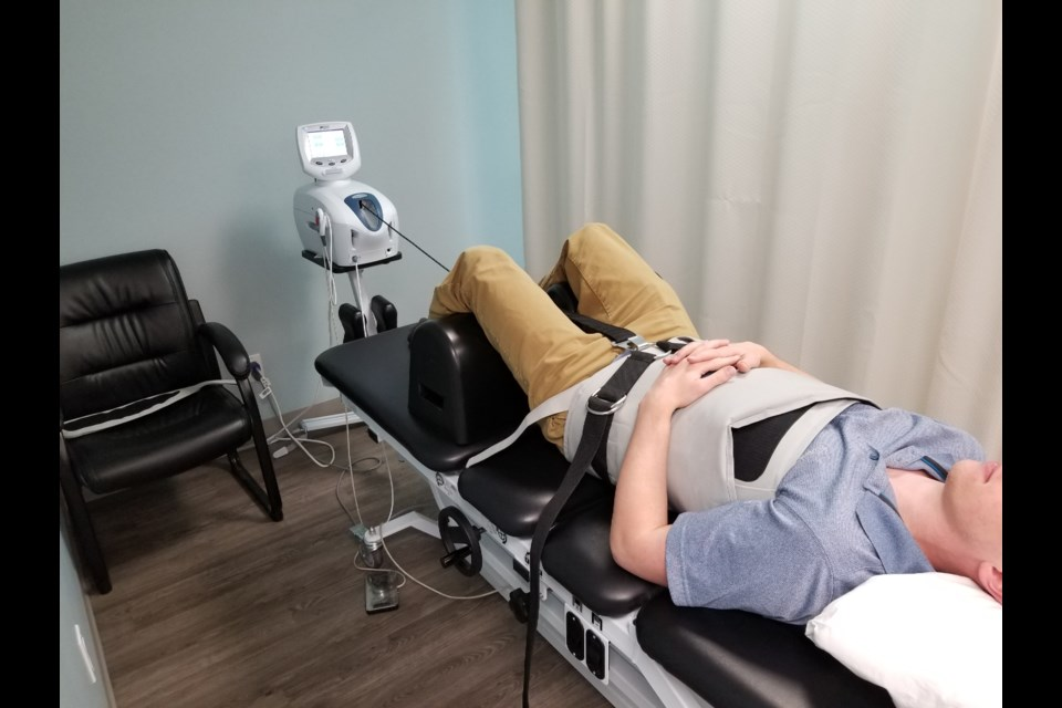 Spinal decompression c/o Guelph Rehab Centre (supplied photo)