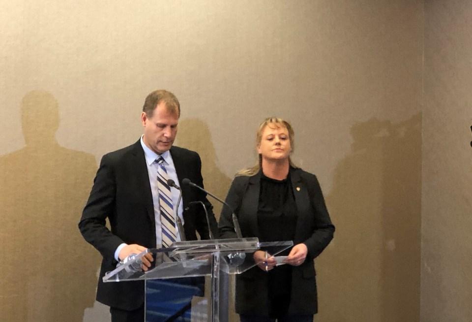 Brian Baardo (Paper Excellence CEO) and Linda MacNeil (Unifor Atlantic Regional Director)