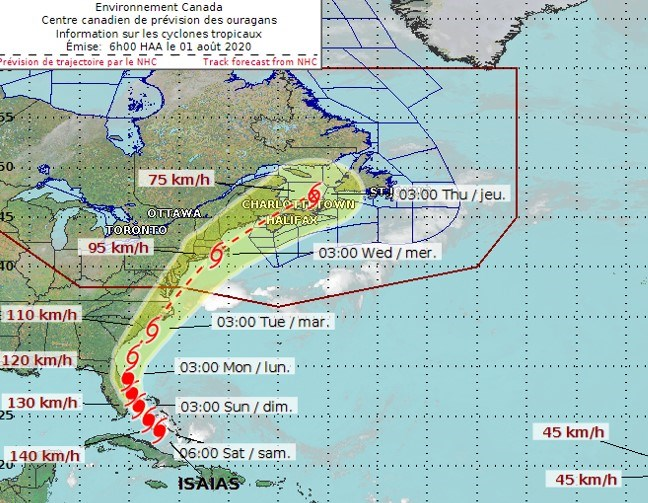 Isaias to bring impacts to Carolinas, Tropical Storm Watch issued