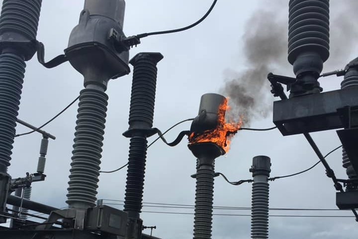 Nova Scotia Power say a lightning strike at the Lakeside substation caused a power outage to customers in the Clayton Park West and Kearney Lake area (Photo courtesy of Nova Scotia Power/Facebook)
