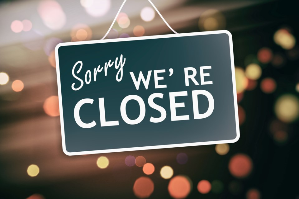 123019- store closed - what's open closed -AdobeStock_137509395