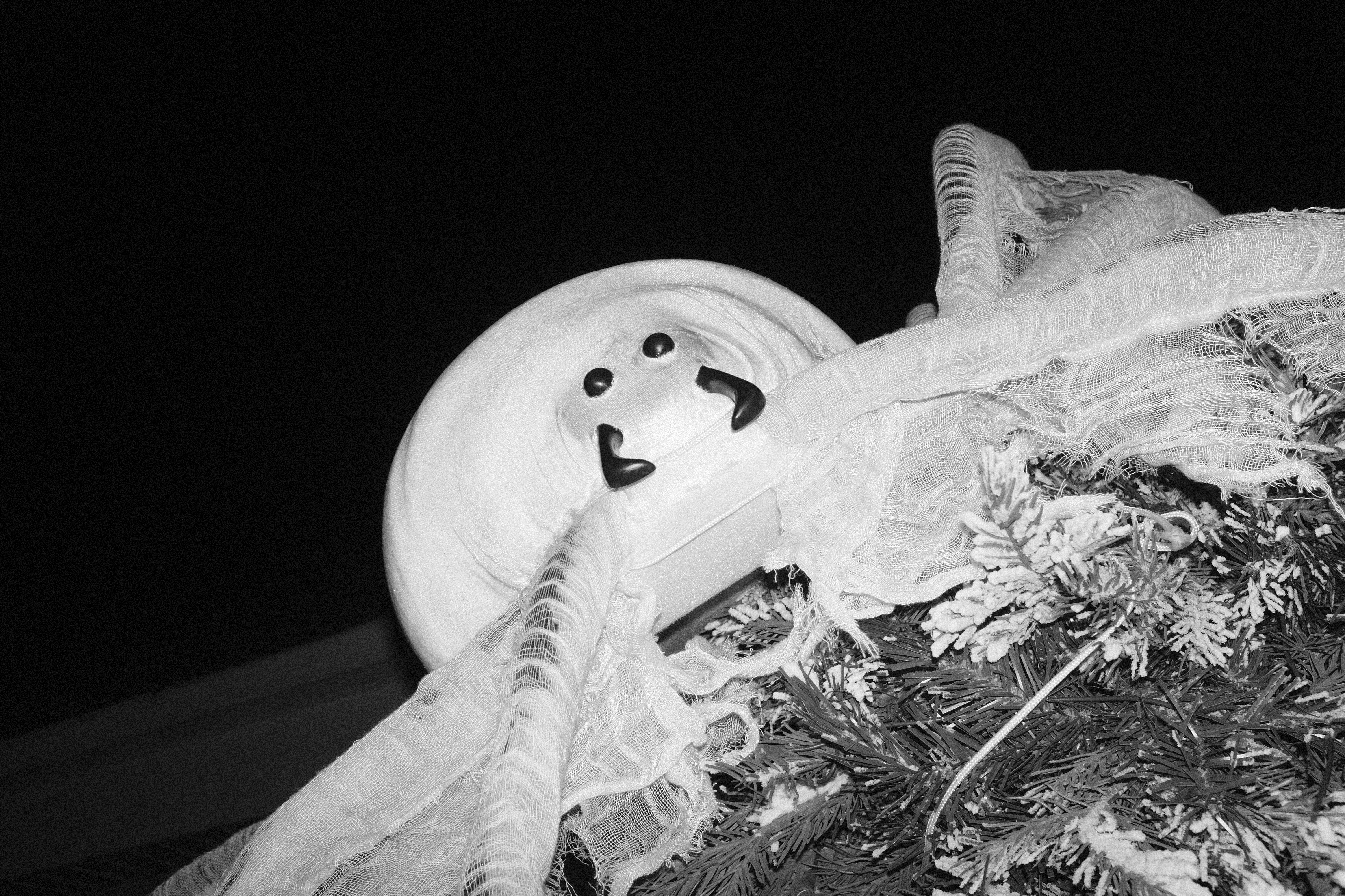 Black and white photo of one Haunted House feature.