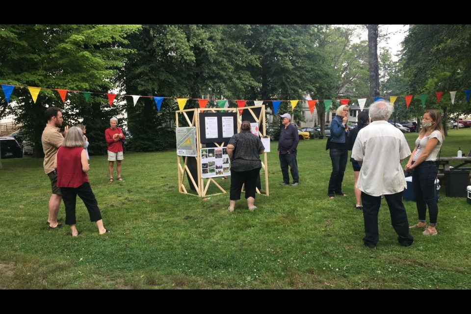 A community imagining session was held Wednesday evening in Cogswell Park to hear feedback from members of the public.