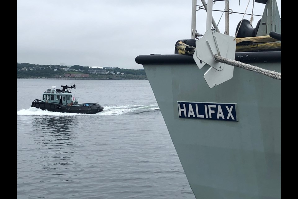HMCS Halifax docked at HMC Dockyard
