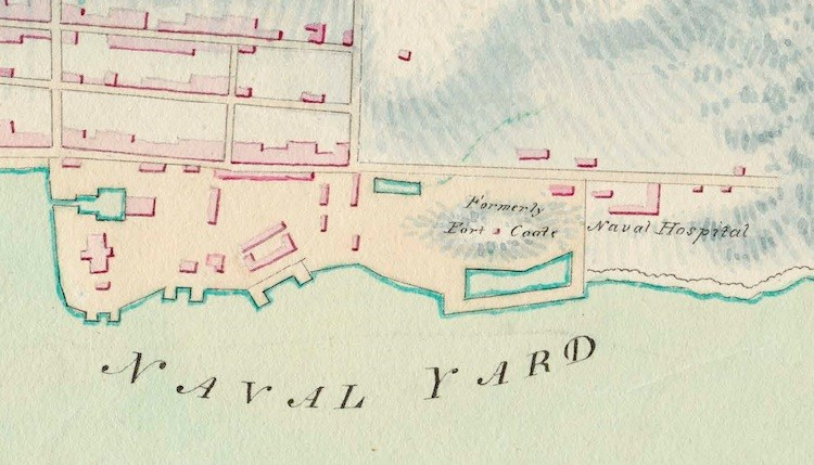 Image 1a - Section of 1808 Map of Halifax Harbour by John G. Toler, Library and Archives Canada