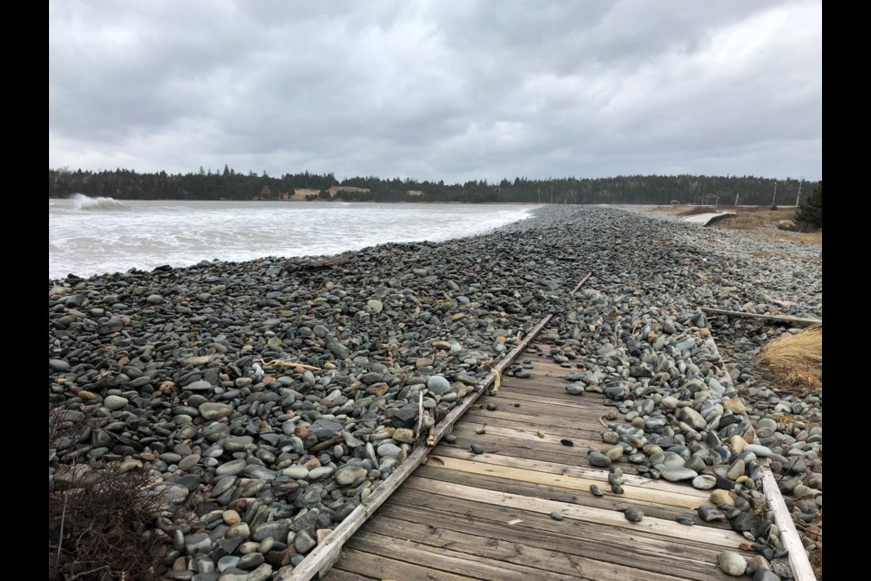 Rock-filled pathway at Eastern Passage's Fishermans Cove (Meghan Groff/HalifaxToday.ca)