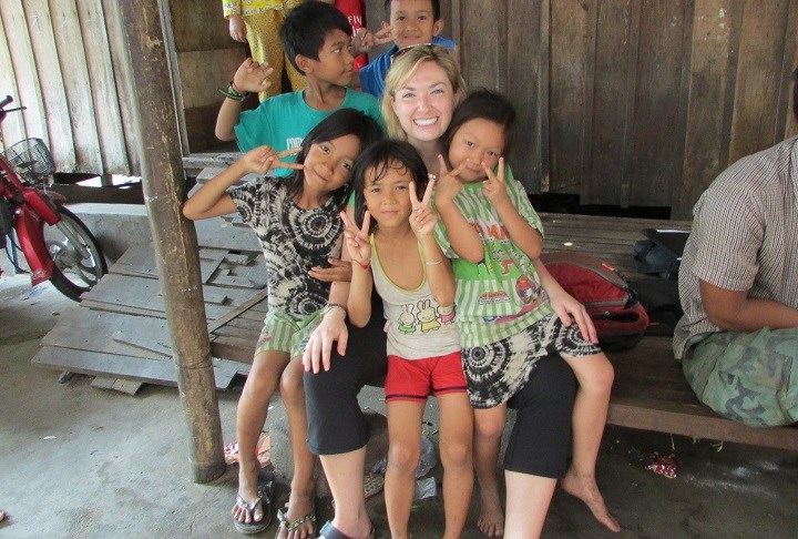 Dr. Kyly Whitfield in Cambodia (Photo provided)