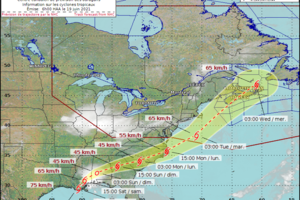 Tropical Storm Claudette could bring rain, gusty winds to Maritimes
