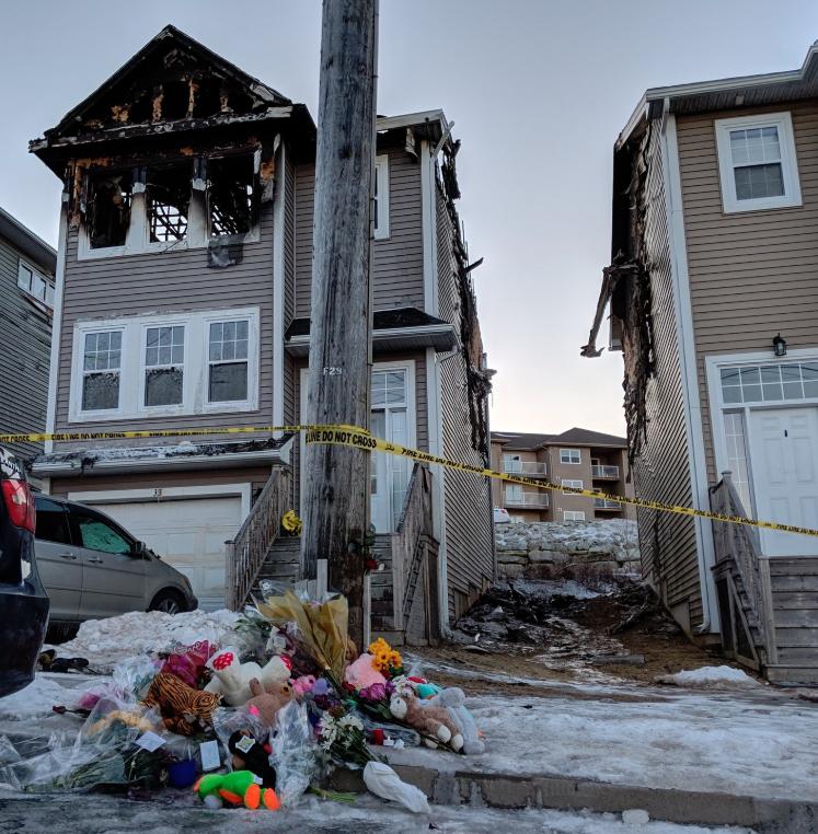 Memorial outside Quartz Drive Fatal Fire Spryfield (Mark Hodgins)