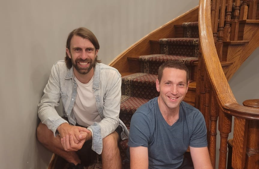 Stuart Grodinsky (right) with friend and co-founder James Prince, started a used furniture and housewares collection company called 'Someware' with the goal of removing 1 million pounds of furniture from local landfills by the end of 2021.