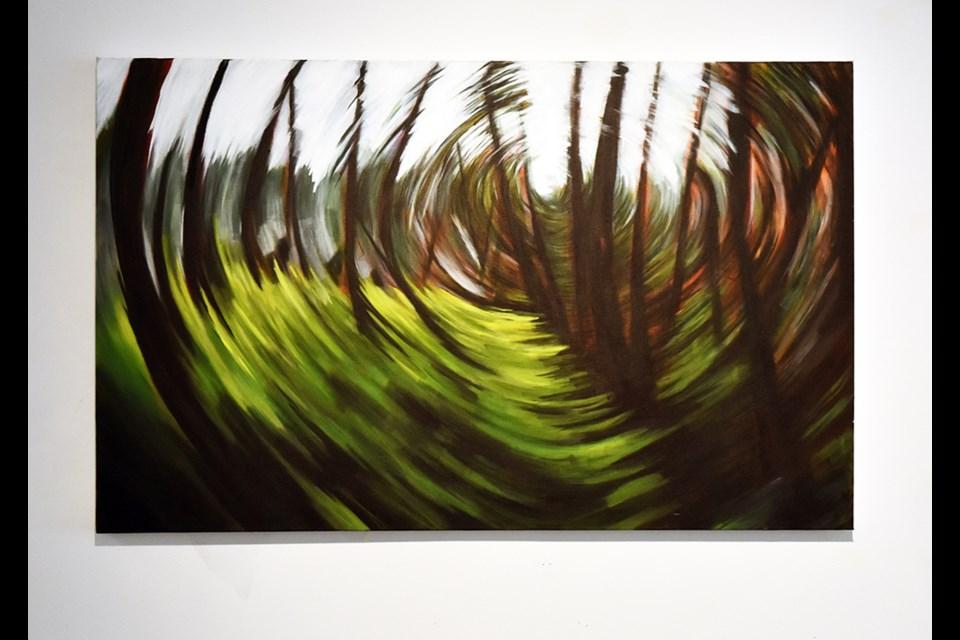 Exploring the Cedars, luminous and kinetic artwork by Joanne Lomas.