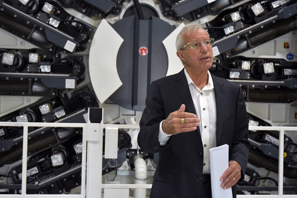Vic Fedeli, Ontario's minister of economic development, announced funding to support expansion at Tempo Plastics in Innisfil Friday.