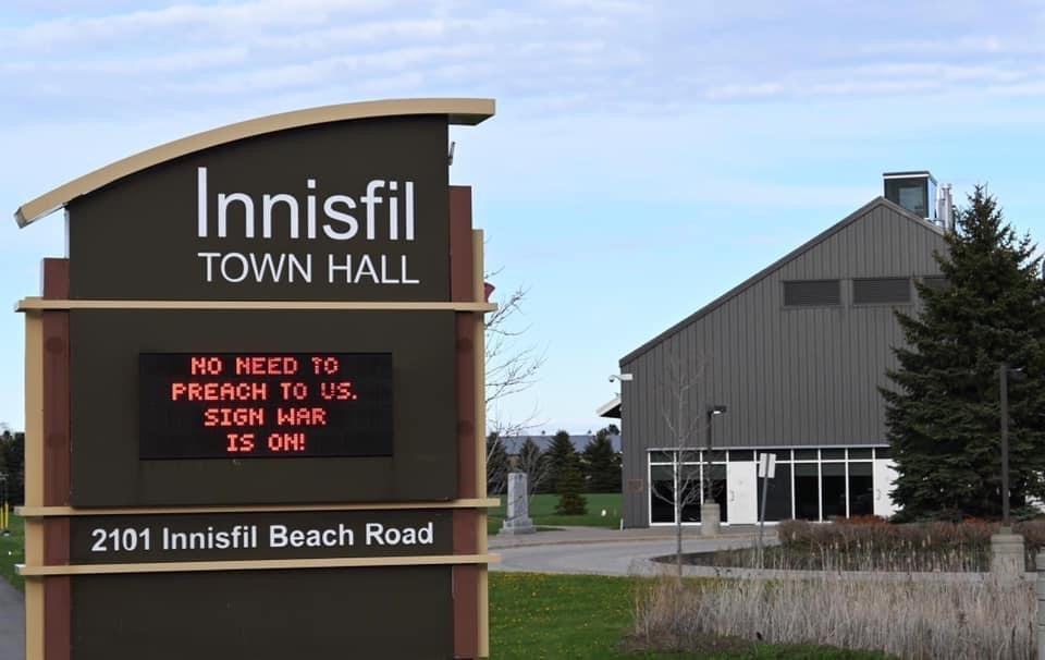 Town of Innisfil gets in the game. Facebook Photo.