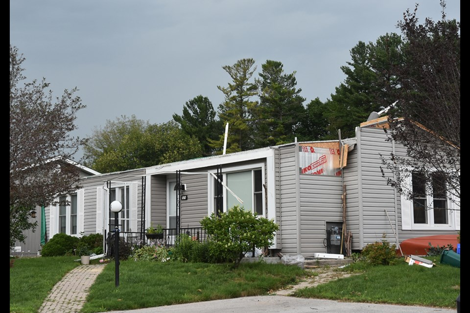 Only one home in Sandycove Acres was so severely damaged that it remains uninhabitable.