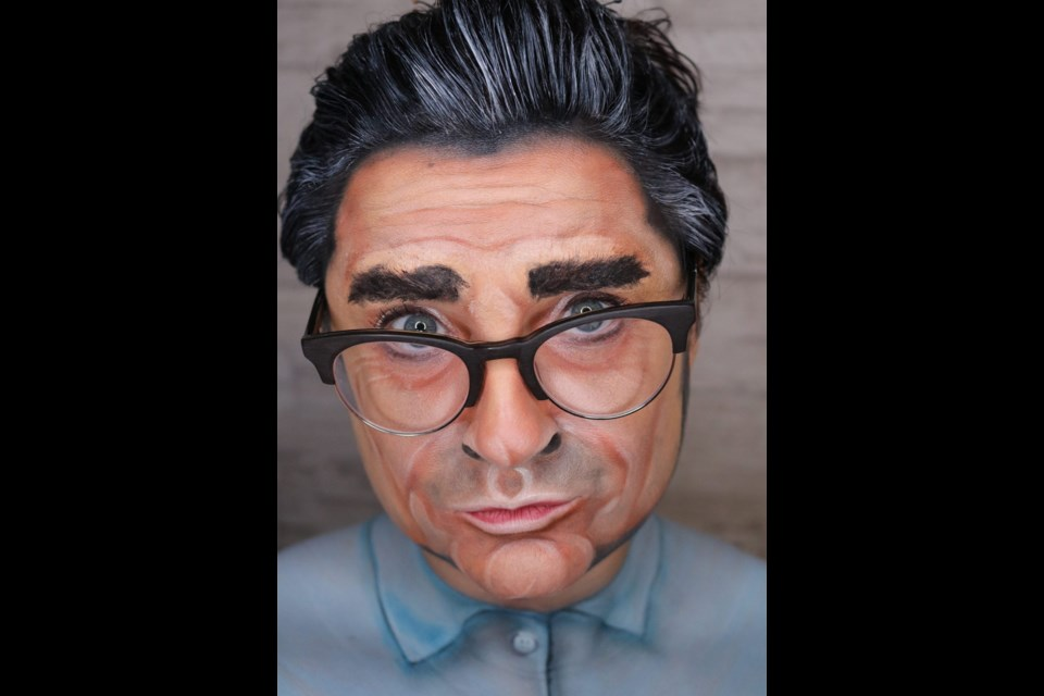 Erin Royal of Metamorph Beauty placed in the top-three overall with her face transformation of Eugene Levy, with Royal's face as the canvas. Photo supplied