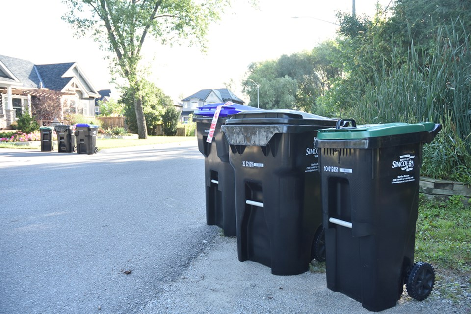 New County of Simcoe Carts, for automated solid waste collection, are being delivered to neighbourhoods.