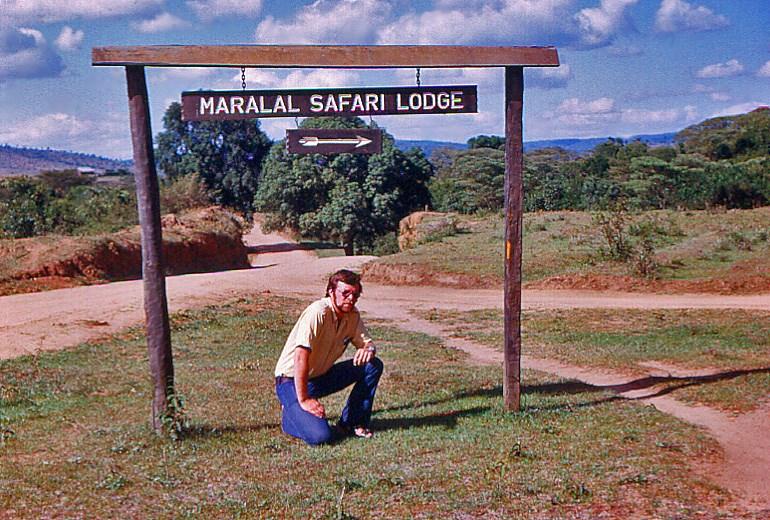 Eric at the Maralal Safari Lodge 1973
