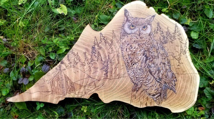 Pyrography Art by Erin Sanderson. /Photo Submitted.