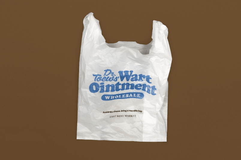 They plan to continue handing out the specialty bags for the foreseeable future, but note that they'd rather no one take them. (via East West Market)