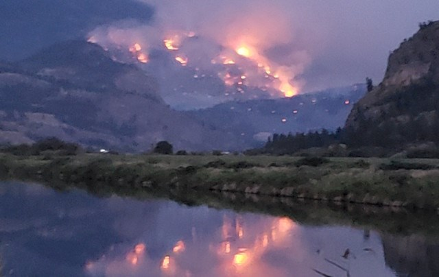 Eagle Bluff fire. (via J. Clark)