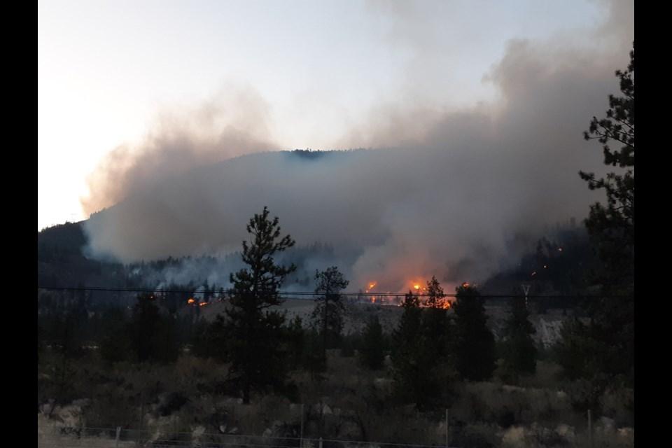 Eagle Bluff fire. (via B.C. Wildfire Service/Twitter)