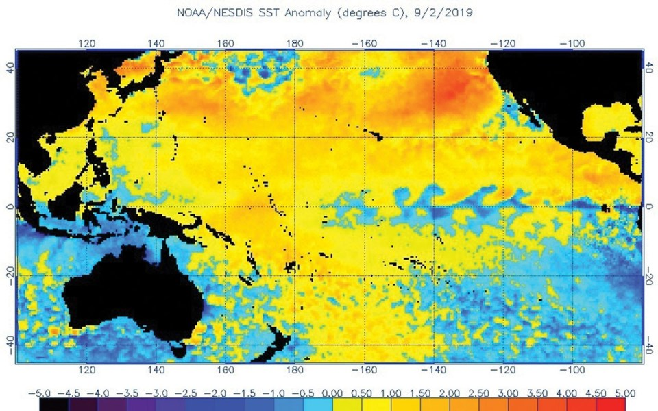 NOAA heatwave map