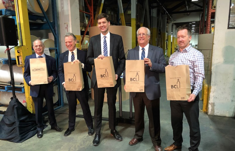 Customers will be charged for paper bags at BC Liquor Stores. (via Graeme Wood)
