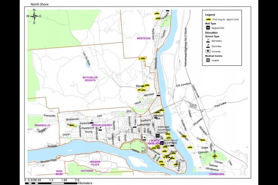 MAP: Thefts from Kamloops vehicles up 63 per cent compared ...