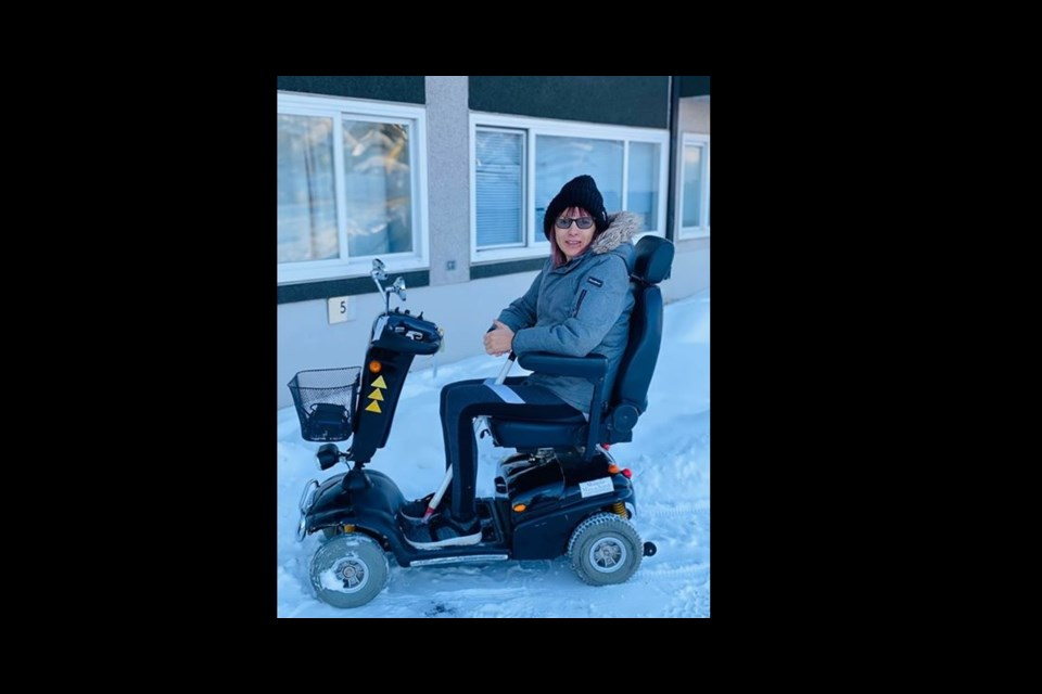 June Seidel with her new wheels. (via Contributed)
