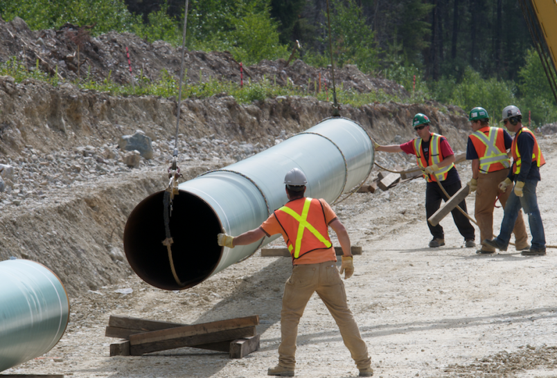 Construction of the Trans Mountain pipeline expansion continues. (via Trans Mountain)