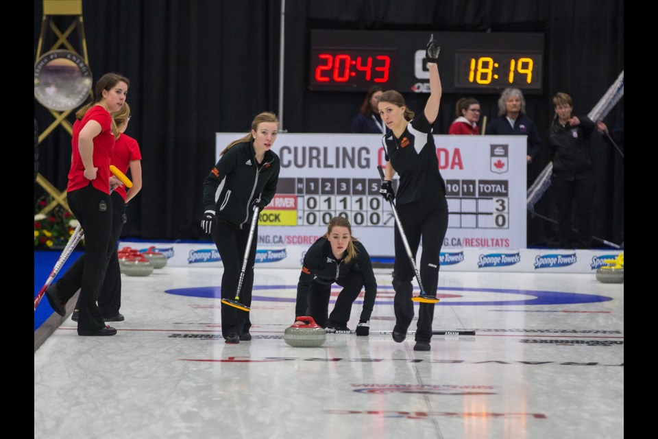 Team Brown curling rink is up for the 2018 Team of the Year Award. They've won three times in the past, in 2011, 2013 and 2015. (via Dave Bennett/TRU Athletics)