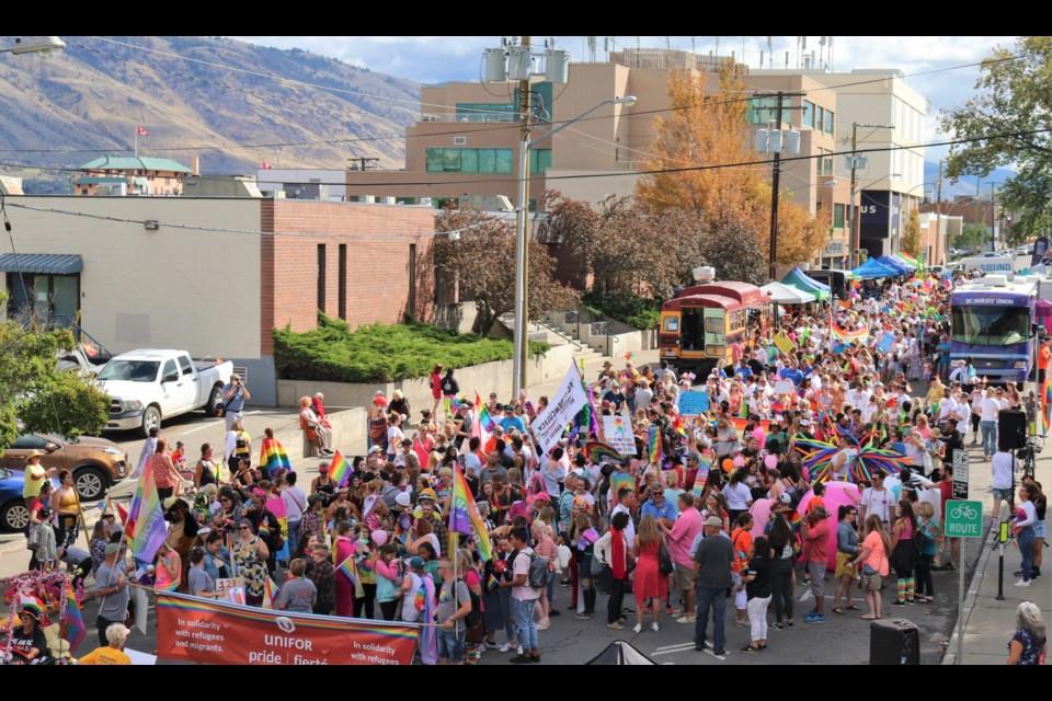 The gathering of the marchers. (via Brendan Kergin)