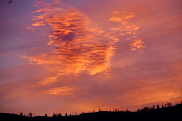 sunrise over strawberry hill