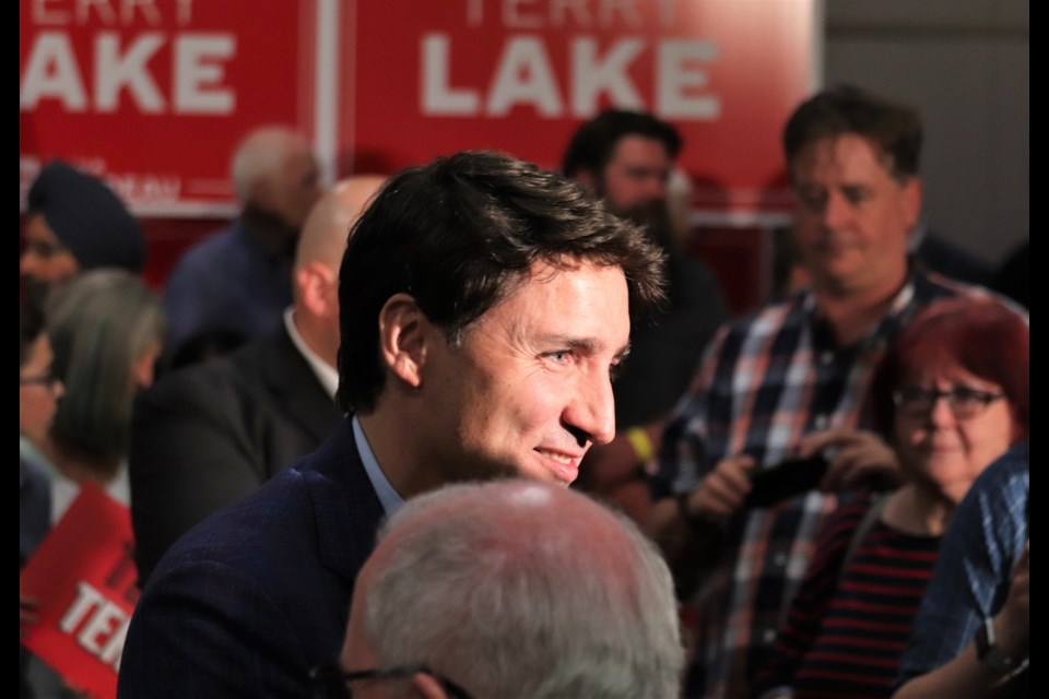 File Photo: Prime Minister Justin Trudeau at an even in Kamloops. (via Brendan Kergin)