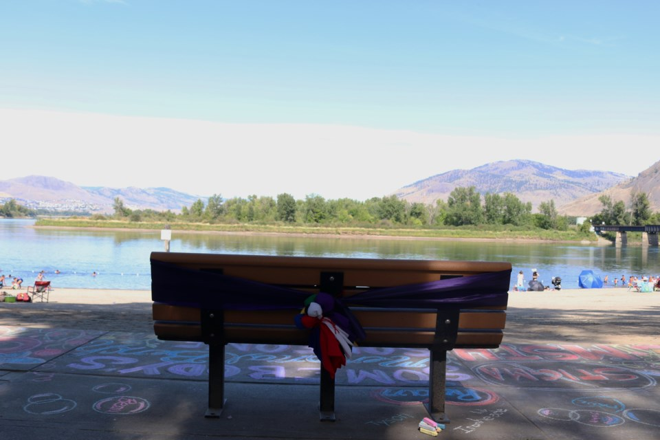 'I thought Riverside Park was the heart of Kamloops. It's the centre of town. Everyone comes here at some point in time of the year and it just felt like the right place to be,' says Sandra Tully of Moms Stop the Harm.  (via Eric Thompson)