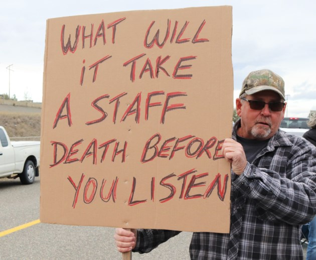 Kamloops correctional officers protest prison violence