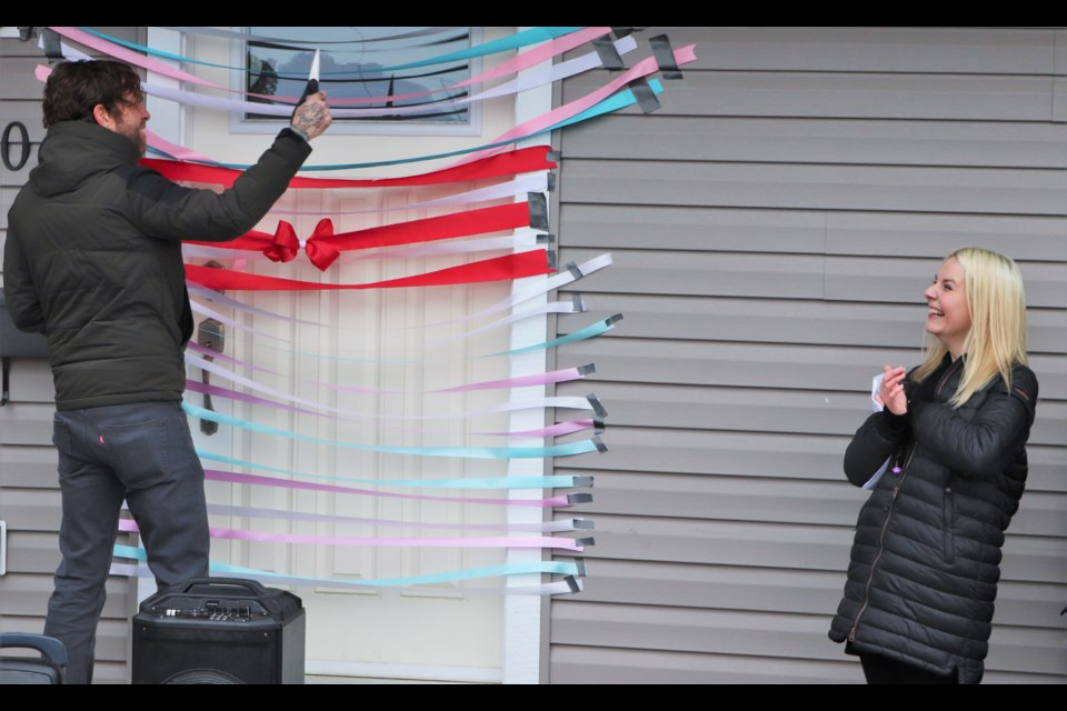 Matthew Cameron was on hand to cut the first ribbon on behalf of the province. (via Brendan Kergin)