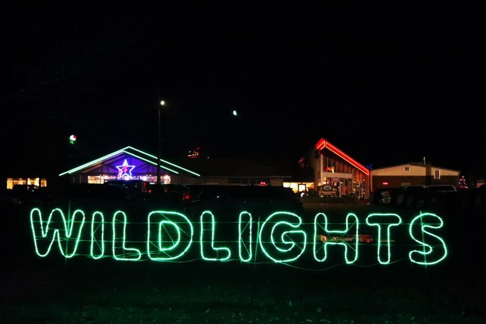 The BC Wildlife Park's Wildights opened on Dec. 13 and runs until Jan. 5, 2020. (via Eric Thompson)