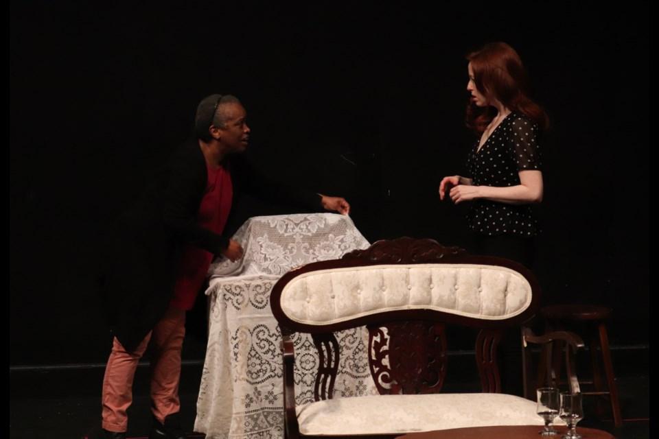 Marcia Johnson as Mercy and Amanda Lisman as Princess Elizabeth. (via Cailyn Mocci)