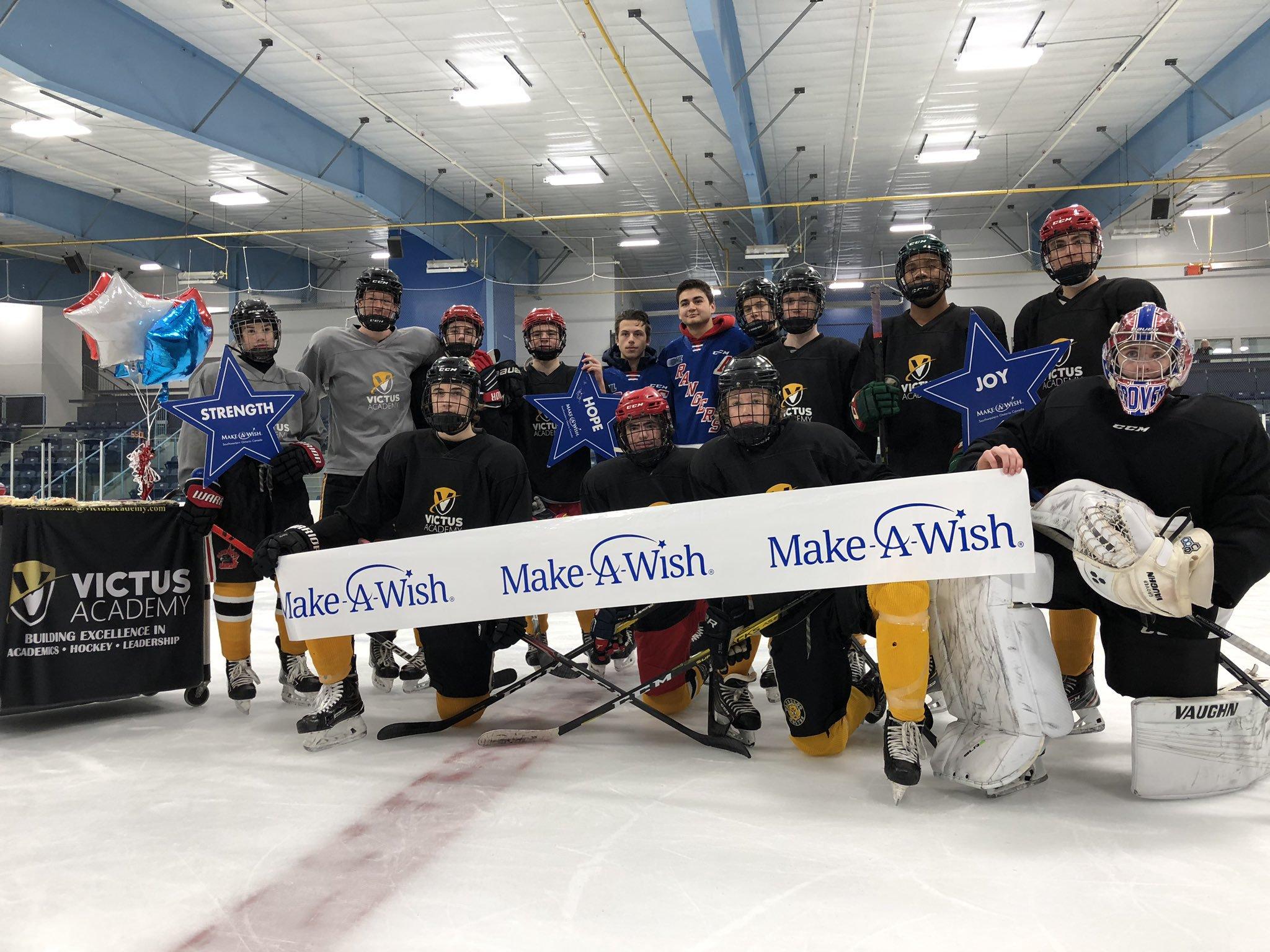 Make-A-Wish makes local hockey fan's wish come true