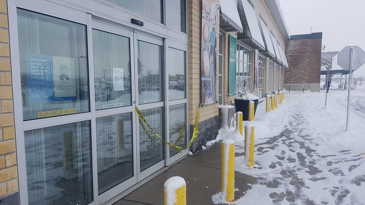 stores in kitchener vehicle crashes into lcbo store in kitchener