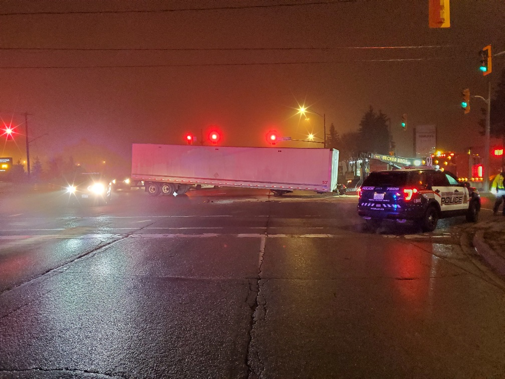 Charge laid in Tuesday morning collision