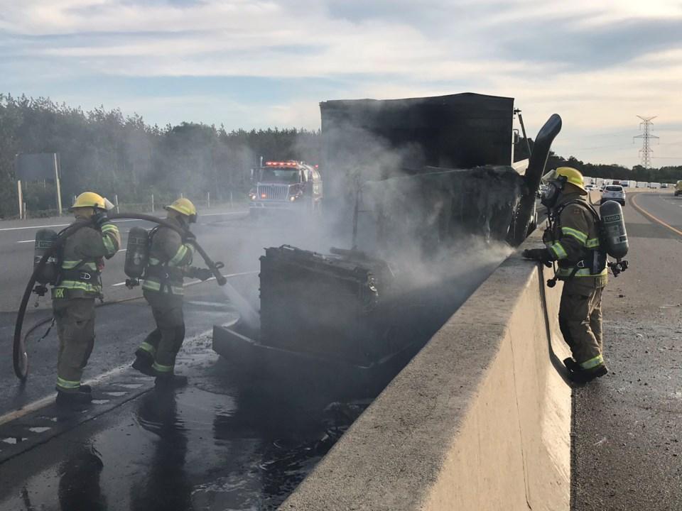 vehicle fire 401 - douglas
