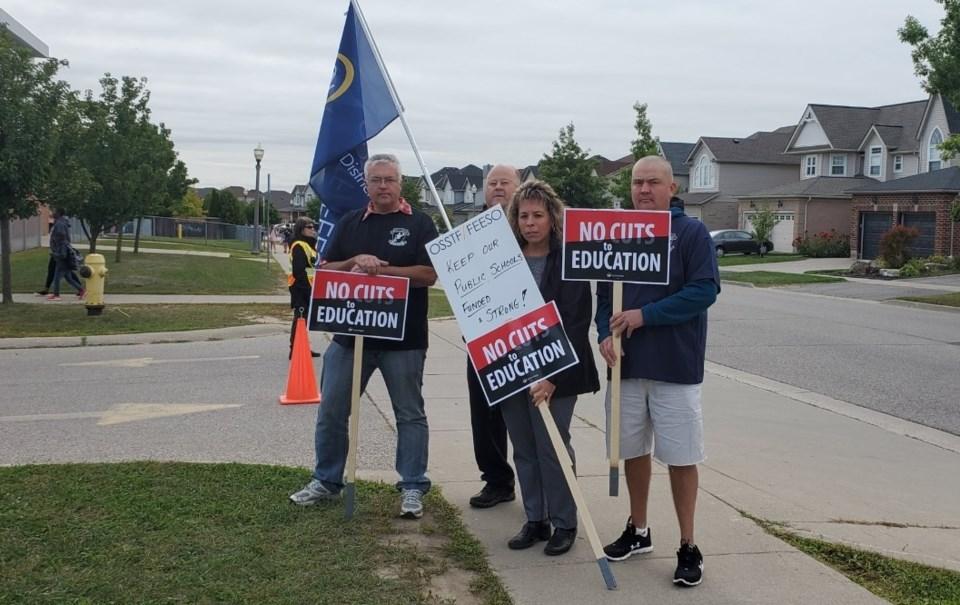 OSSTF protesting